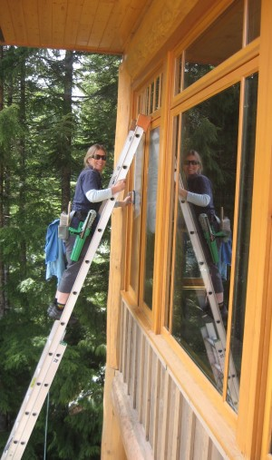 Christyne window cleaning in Whistler